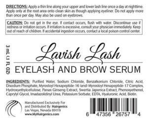 lavish lash hd ingredients & directions
